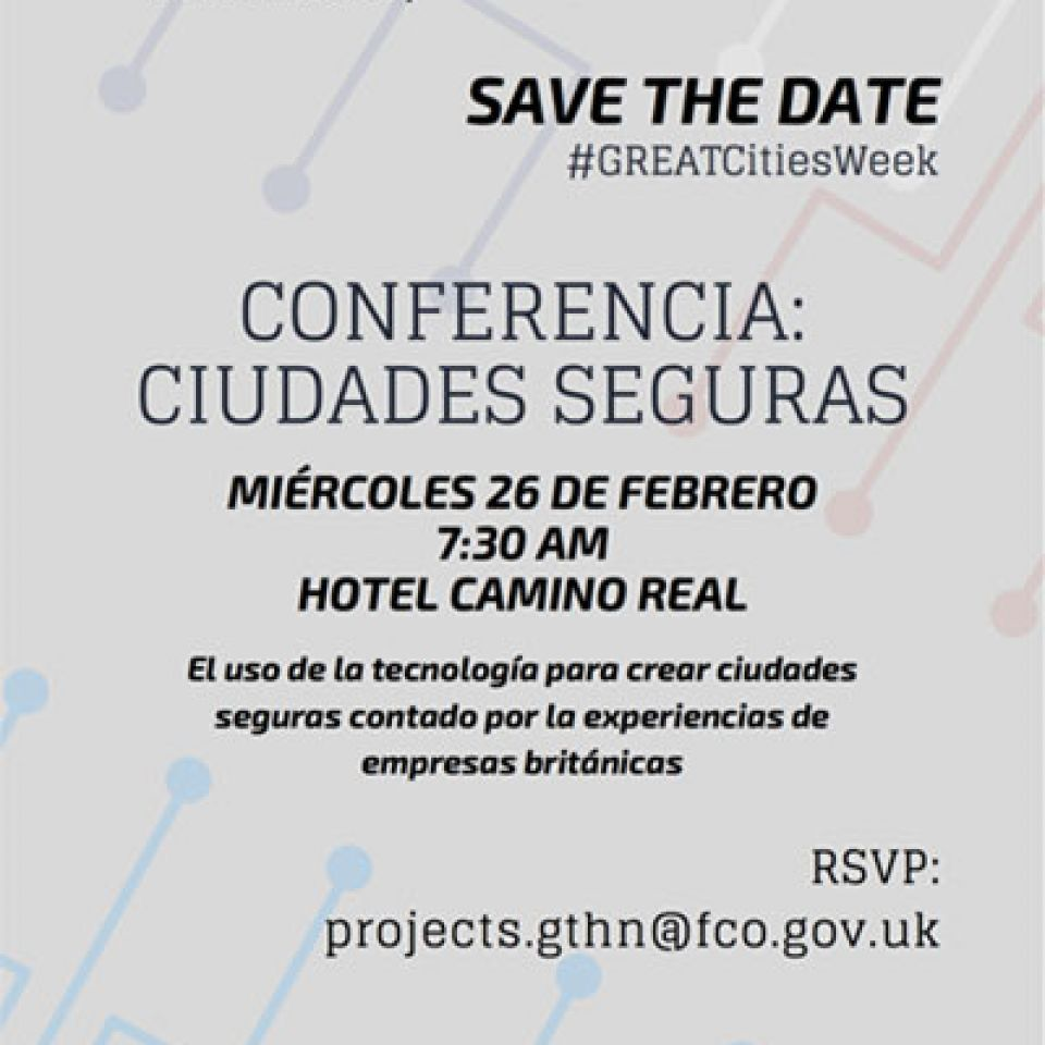 Save the Date, Conference  safe cities /February 26, 2020